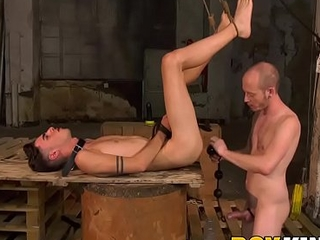 Twink sub Jesse Evans ass fucked with dildo and big cock