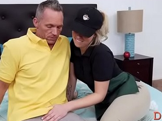 Schlong riding together with blowjob by awesome young Zoey Monroe