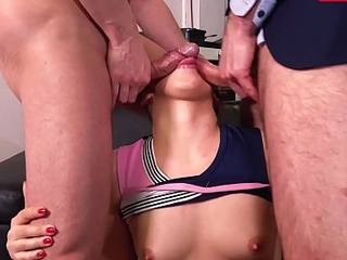LETSDOEIT - Russian Teen Selvaggia Pass The Anal Exam In MMF Sex