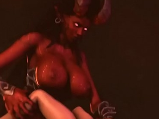 NineTailedWrath Futa Succubus Giantess Kerrigan Fucks Elizabeth bed