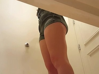 Hot teen in changing room