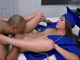Stepbro Fucks His Sister So She Can Relax Before Graduation