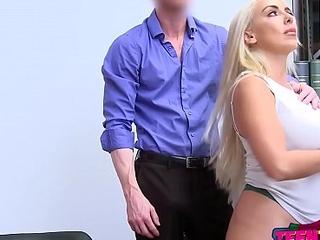 Security guard fucks two hot girls