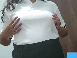 35 min follando a hermosa colegiala con su uniforme. Anny Kitty