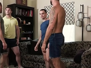 FamilyDick - Horny Daddy&rsquo_s Swap Stepsons For A Family Orgy